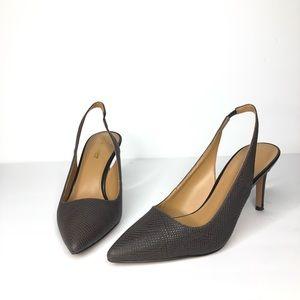 NW Casablanca pointy toe sling back heels